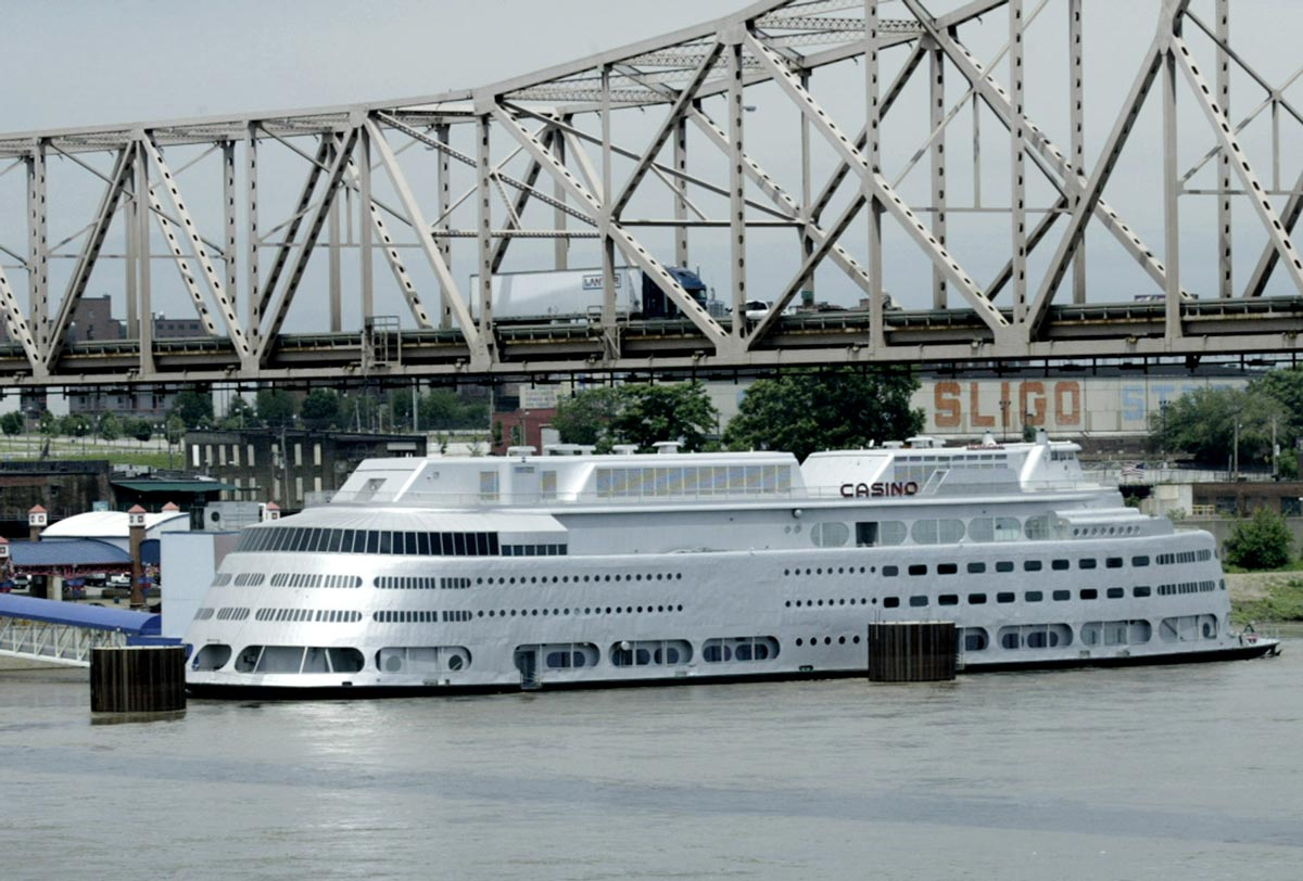 The Admiral, shown in 2004, was one of the first of the first gambling boats in Missouri. (AP Photo)