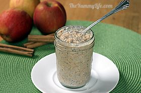 Refrigerator Oatmeal--6 no-cook flavors. Make ahead in individual mason jars for a quick, healthy grab-and-go breakfast. www.theyummylife.com/Refrigerator_Oatmeal #refrigeratoroatmeal #nocook #breakfastideas #masonjaroatmeal #oatmealrecipes #makeahead