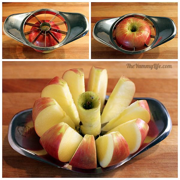 How to keep apple and pear slices from browning. Easy methods using ingredients from your kitchen. From TheYummyLife.com
