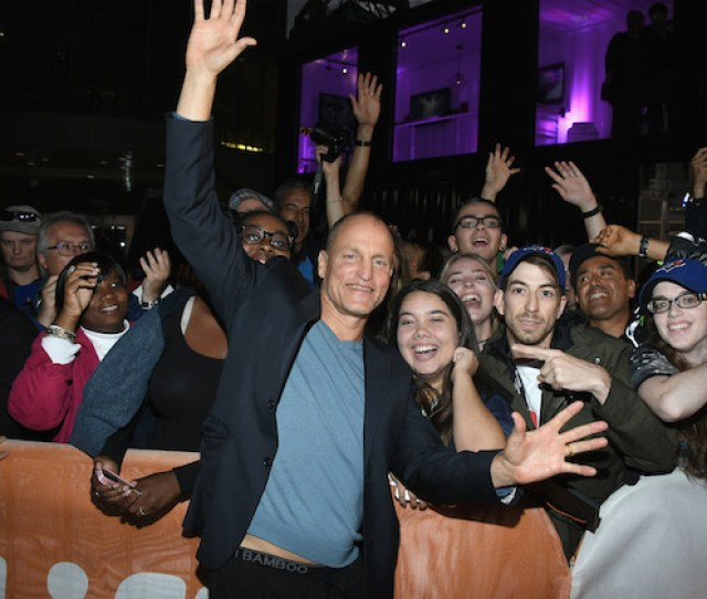 Toronto On September 17 Actor Woody Harrelson Poses With Fans At The