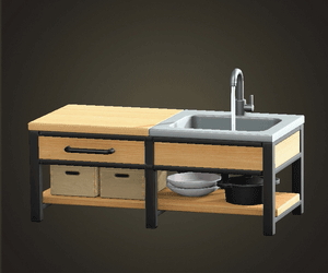 ACNH   Cafe Design Ideas - Outdoor Cafe Guide   Animal ... on Animal Crossing Ironwood Kitchen  id=84322