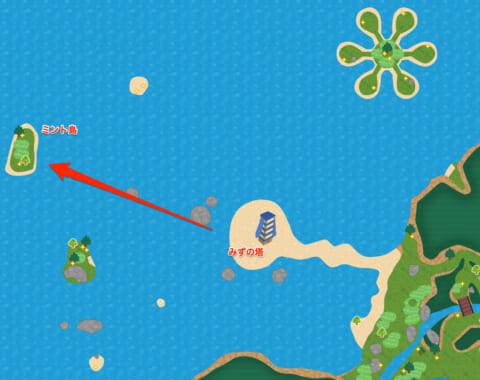 ミント島マップ