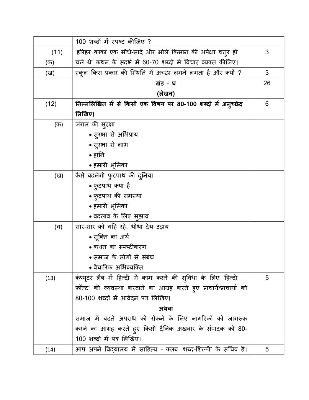 English Grammar Worksheets For Class 10 Cbse With Answers