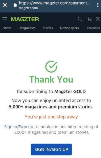 Magzter Gold Subscription