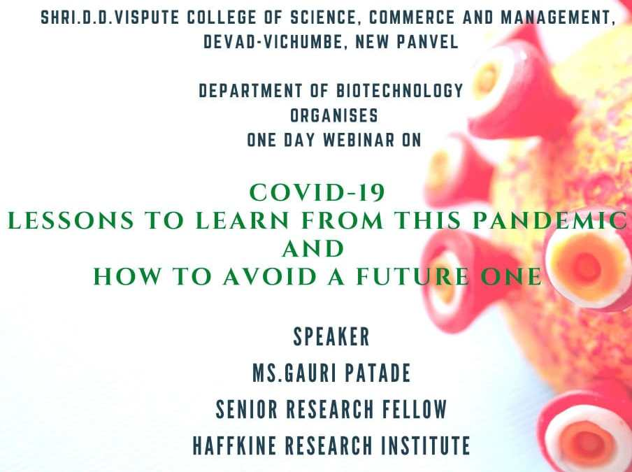 One Day Webinar on Lessons To Learn From This Pandemic & How To Avoid A Future One