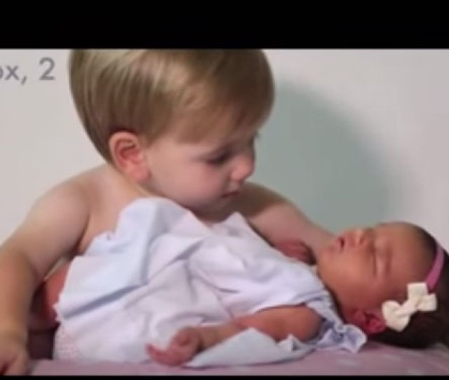 A Screen Grab From The Video Showing 2 Year Old Knox Looking Affectionately At