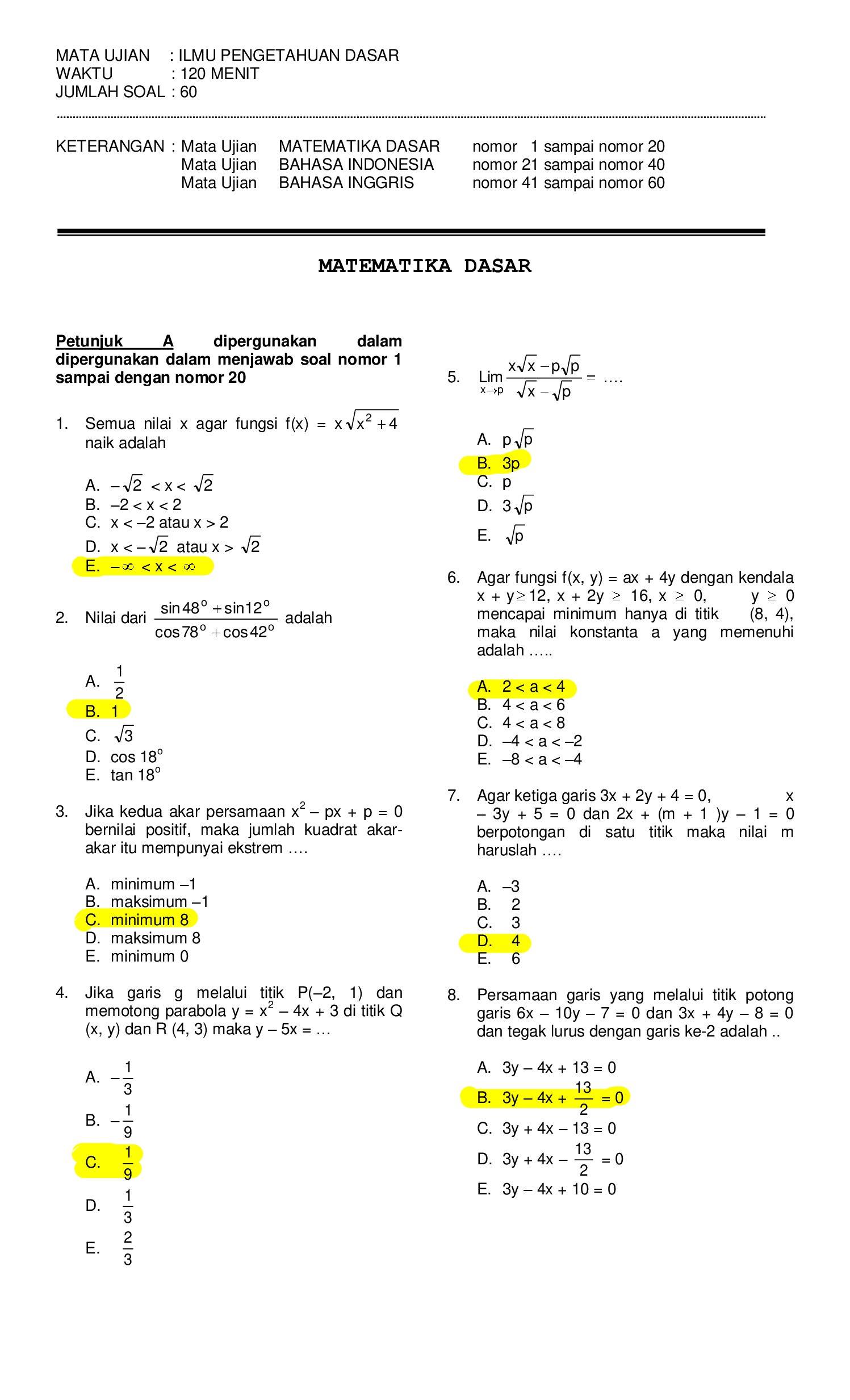 Buku bank soal matematika dasar sma. Ambisnotes Soal Matematika Dasar Ambisnotes