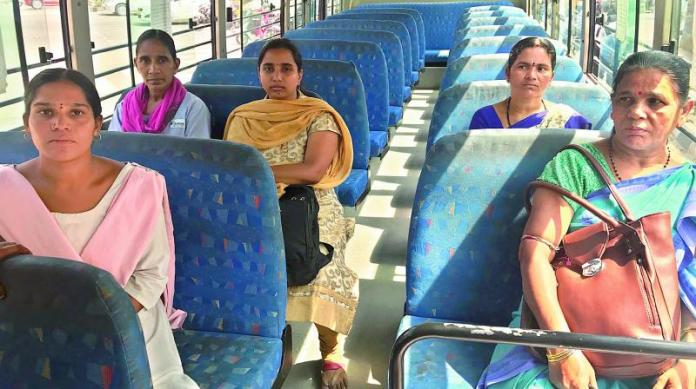 Image result for womens in hyder bad bus