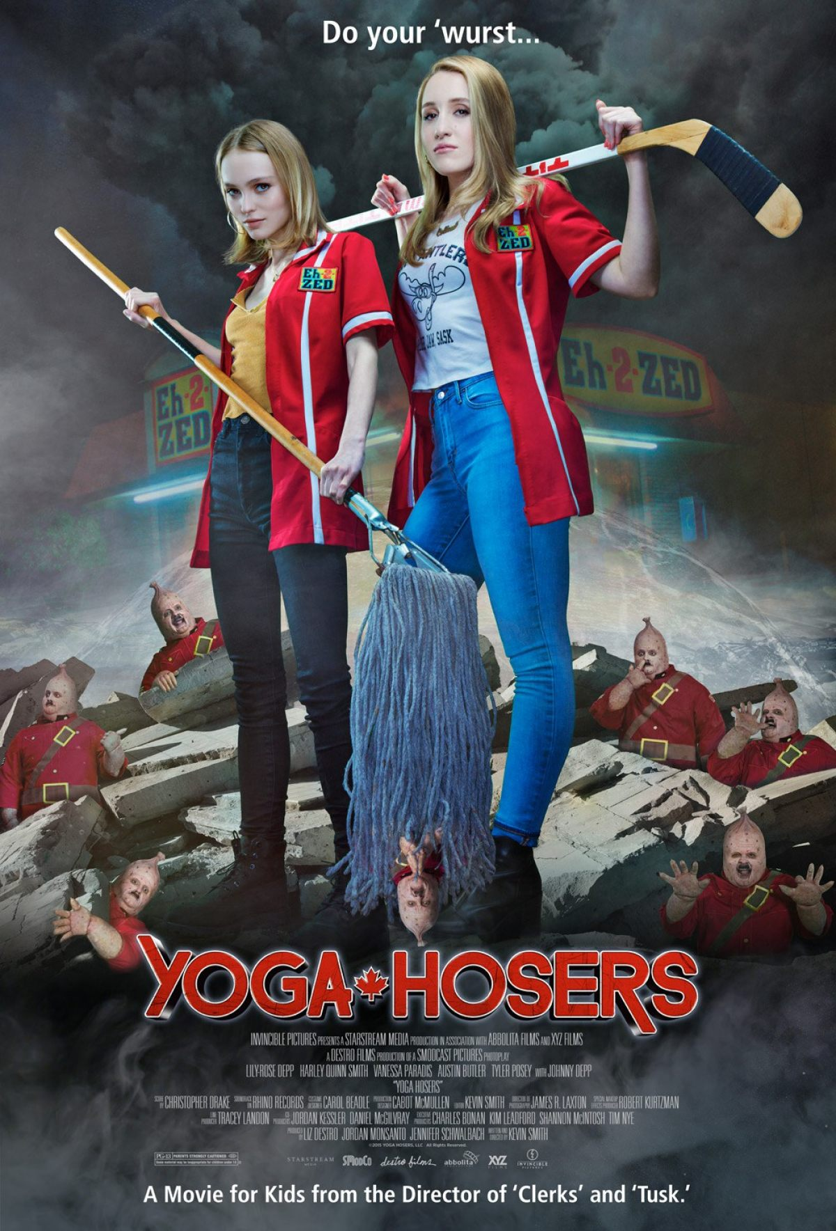 Image result for yoga hosers movie poster