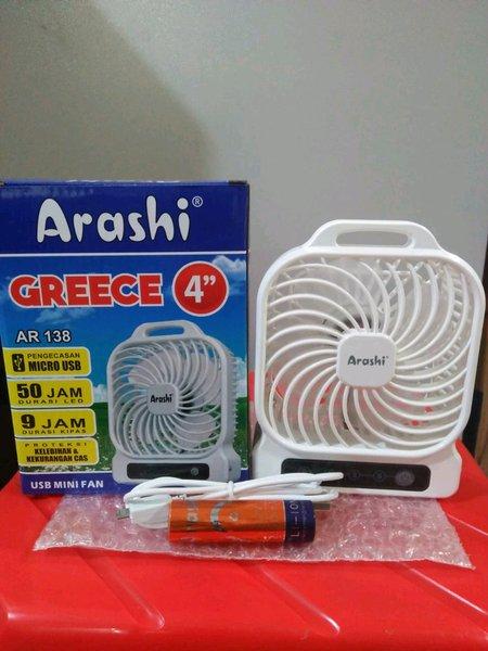 Kipas Angin Portabel Arashi 4 Inchi