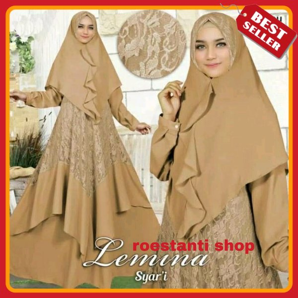 Baju Busana Muslim Wanita Gamis Brokat Terbaru Branded Dress Gamis Mewah Terlaris
