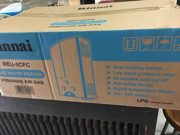 Pemanas Air   Water Heater Rinnai 5t Gas REU 5CFC Murah