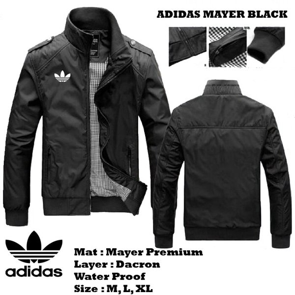 Jaket Adidas Mayer Casual Pria Water Proof