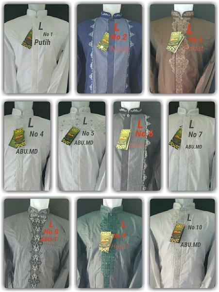 Promo Baju koko Atlas Lengan panjang bahan sangat berkualitas dan nyaman dipakai