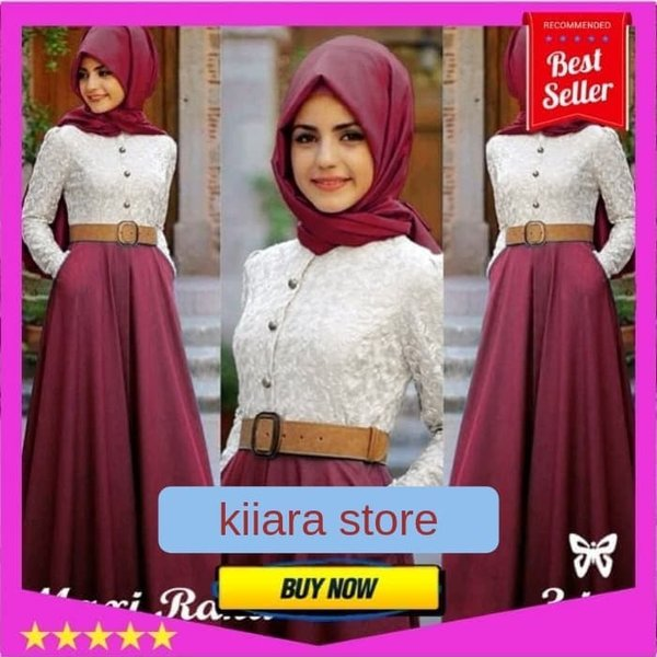 Baju Atasan Gamis Wanita Muslim Syari - MAXI RANA Murah - dress hija