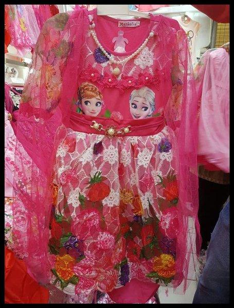 Suplier Dress Gaun Baju Fashion Anak Perempuan Frozen Murah Muslim