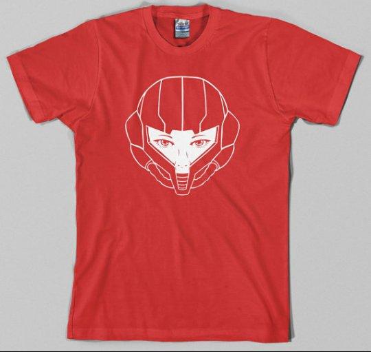 T shirt Helmet girl Red
