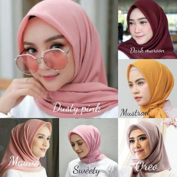 Gambar Untuk Kerudung Hijab Segi Empat Bella Square