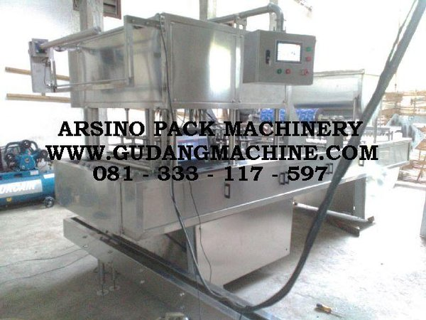 Automatic Cup Sealer 16 Line Pneumatic mesin cup otomatis 16 lubang