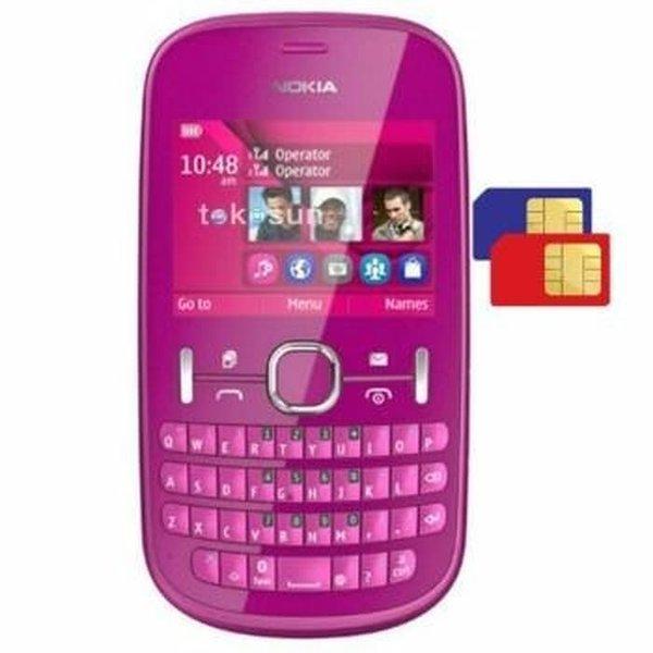 murah banget HP NOKIA ASHA 200 GSM DUALSIM QWERTY KAMERA 2MEGAPIXEL promo