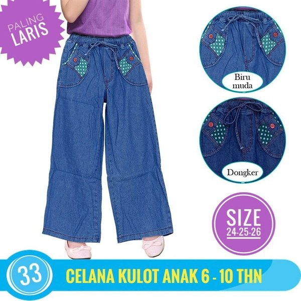 NEW Celana Panjang anak perempuan Celana Kulot Anak Jeans