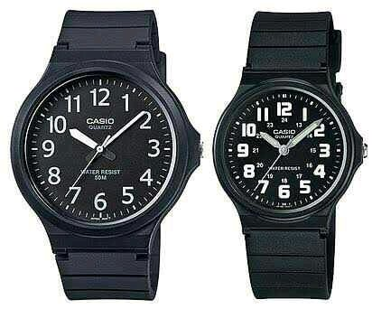 Jam Tangan Casio Couple MW-240-1B dan MQ-71-1B