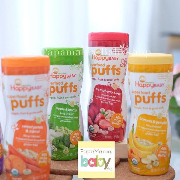 Happy Baby Puff Superfood Snack Bayi Yummy Bites