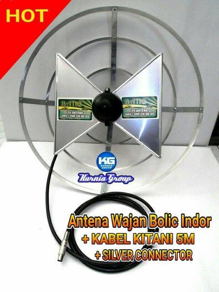 Best Quality ANTENA WAJAN BOLIC INDOR KABEL KITANI 5M SUPER PEKA BOLIK TV UHF Terbaru