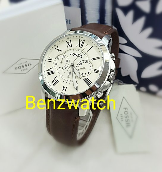 jam tangan pria Fossil Leather Original