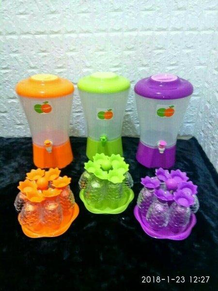 Drink Jar Dispenser Kran Tempat Air Minum Minuman Jus Juice Set Gelas Ikan Free Tempat Gelas Golden Sunkist Murah Berkualitas
