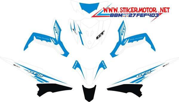 Modif Striping Motor Xeon Gt 125 Blue