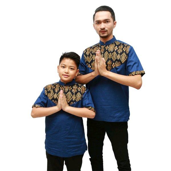 Busana muslim baju koko anak ayah couple