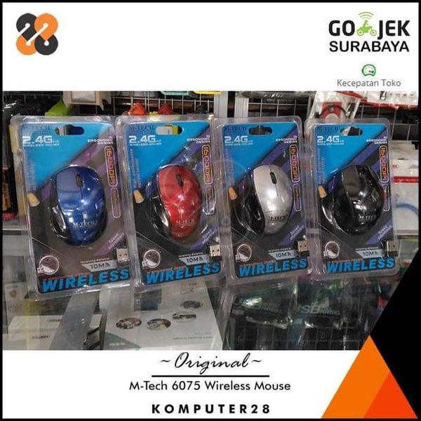 murah M-Tech 6075 Wireless Mouse 2.4GHz - Mouse Nirkabel ready