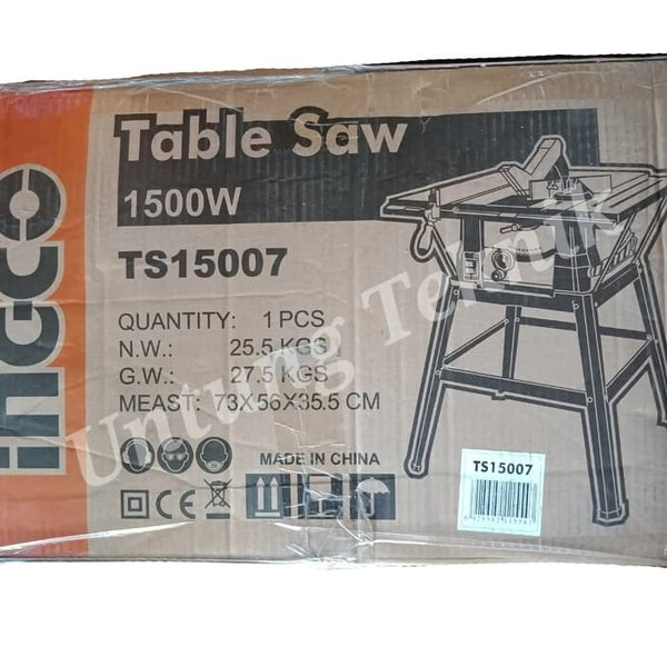 Ingco 10 Inch Table Saw Heavy Duty Mesin Gergaji Meja