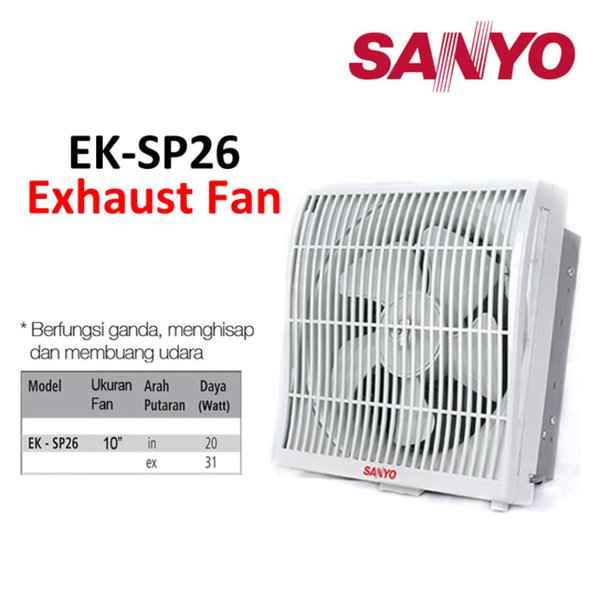 SANYO Exhaust Fan EK-SP26