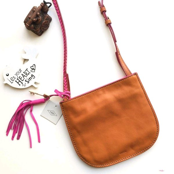 Tas Fossil Brooklyn crossbody small vintage brown