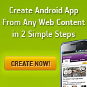 Create Android App from any Web Content
