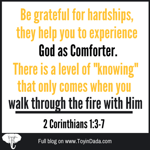 God is your comforter in hardships 2 Corinthians 2 tools for trial