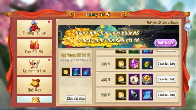 Nhất Kiếm Giang Hồ ưu đãi cực mạnh cho game thủ tái xuất 4