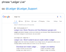 Ledger Wallet Warns of Fake Google Chrome Extension Stealing Crypto