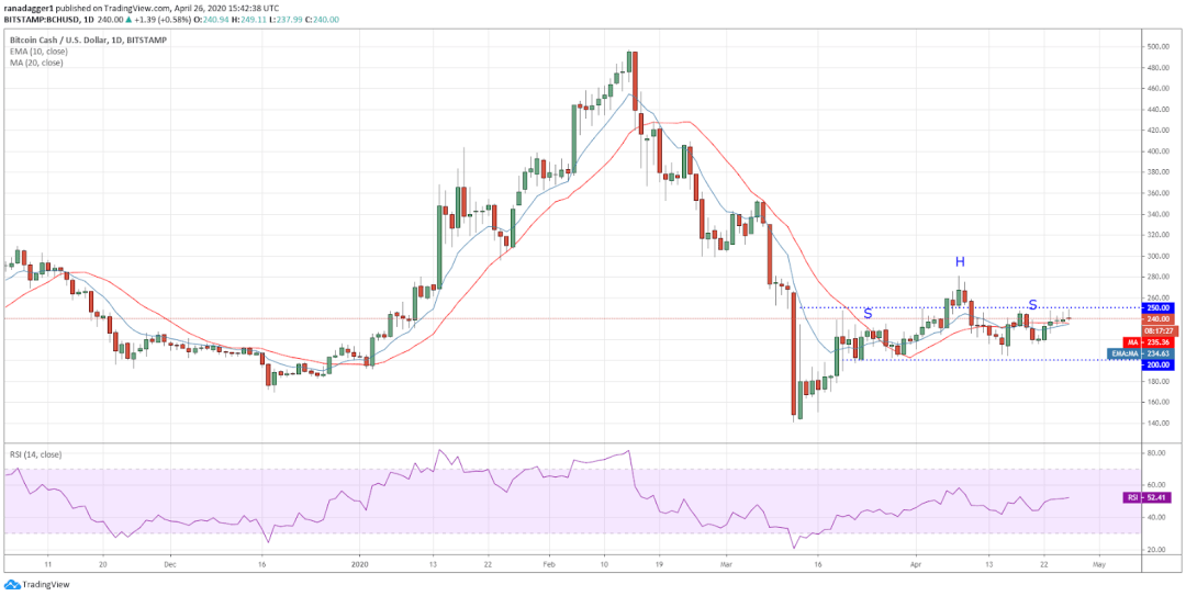 BCH-USD daily chart