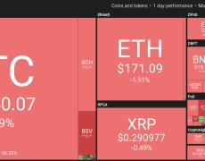 Crypto Markets Turn Red, With BTC Price Stuck Below $8,100