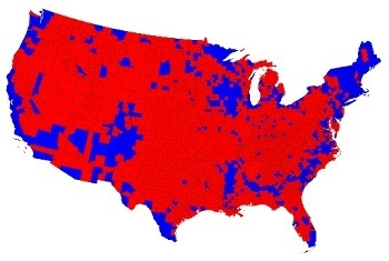 County by county voting 2012 Presidential Election.