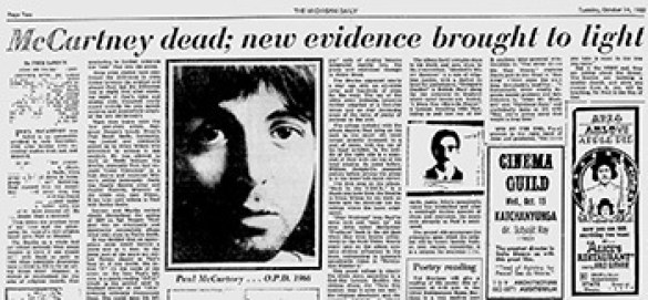 Paul is Dead - Paul McCartney Dead