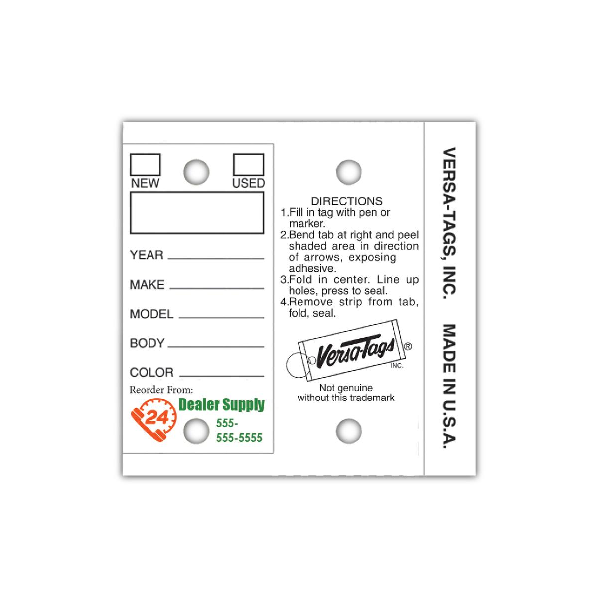 V T Custom Dealer And Auto Repair Key Tags