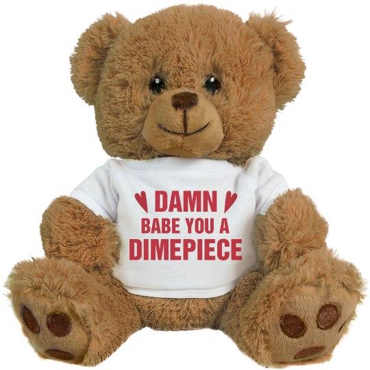 Valentines Bear For My Dimepiece 8 Inch Teddy Bear Stuffed