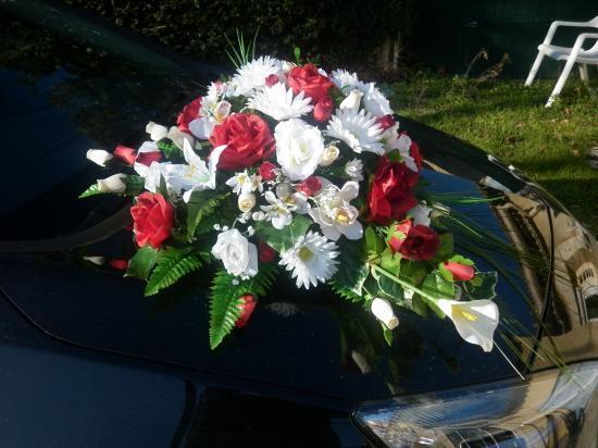 Dcoration De Voiture Pour Le Mariagebouquet Fleur