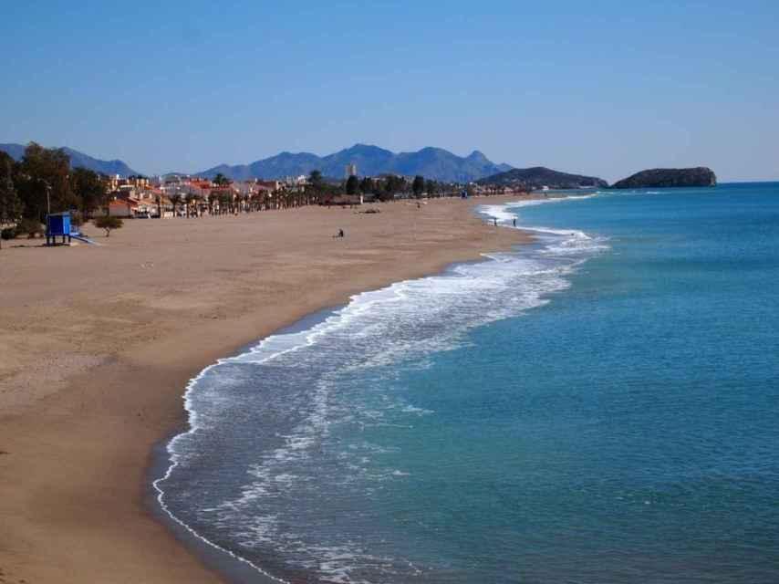 Playa Rihuete, en la localidad de Mazarrón.