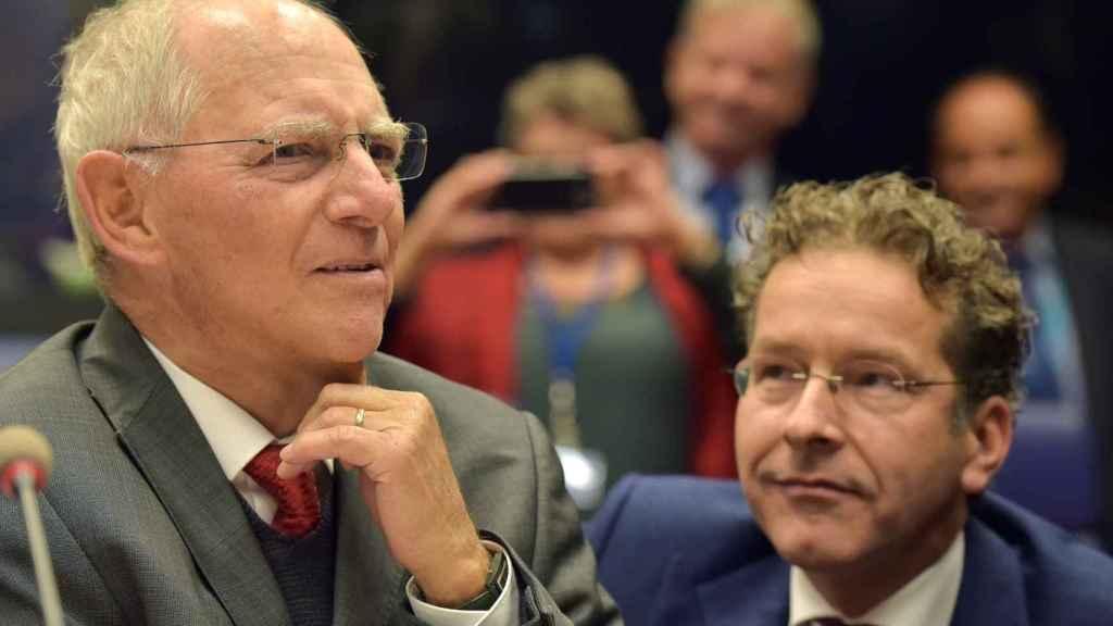 El ministro Schäuble, durante su última participación en el Eurogrupo