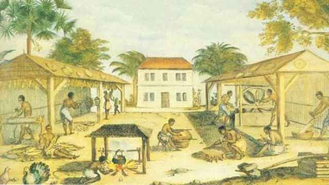 Esclavos en Virginia (1670).